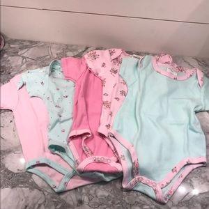 6/9 floral short sleeve bodysuit onesies
